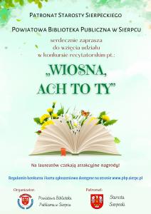 Plakat konkurs recytatorski PBP w Sierpcu